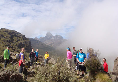 5 Days Mount Kenya Adventure Sirimon Down Sirimon Route.